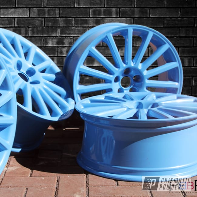 Powder Coating: Wheels,VW Golf MKVI,MK4,Baby Blue Sparkle PMB-4117