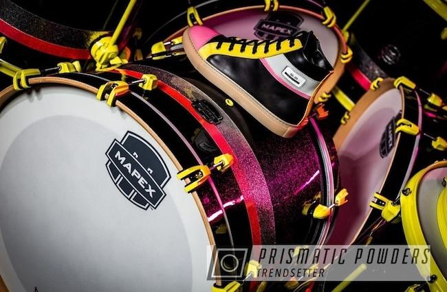 Powder Coating: Charger Yellow PMB-4869,Music,Drum,Drumset,Drum Kit,drums,Drum Parts