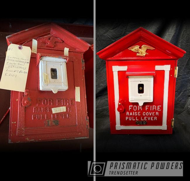 Powder Coating: Red Wheel PSS-2694,Fire Alarm,Restoration,Fire Station