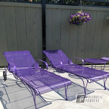 Powder Coated Patio Chairs In Pmb-4784