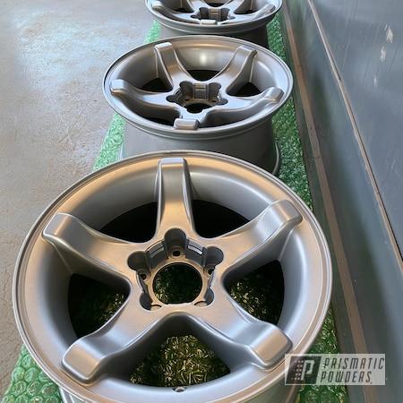 Powder Coating: Wheels,BMW Silver PMB-6525,Rims,Automotive Wheels
