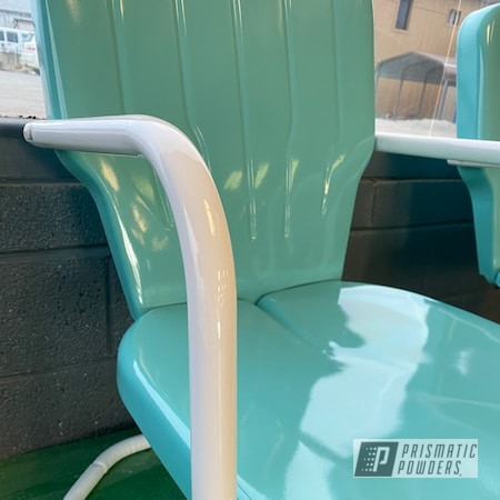 Powder Coating: Sea Foam Green PSS-4063,Chairs,Lawn Chairs,Gloss White PSS-5690,Outdoor Patio Furniture