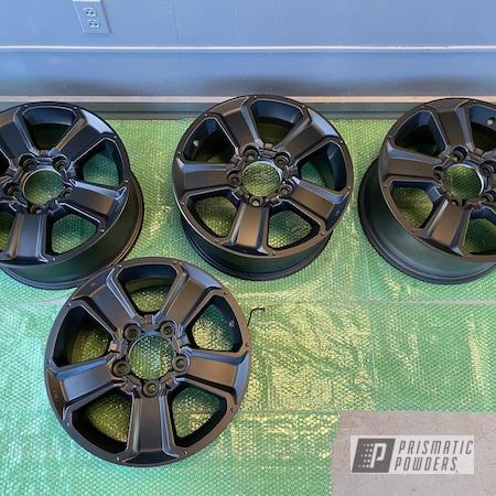 Powder Coating: Wheels,Matte Black PSS-4455,Rims,Automotive Wheels