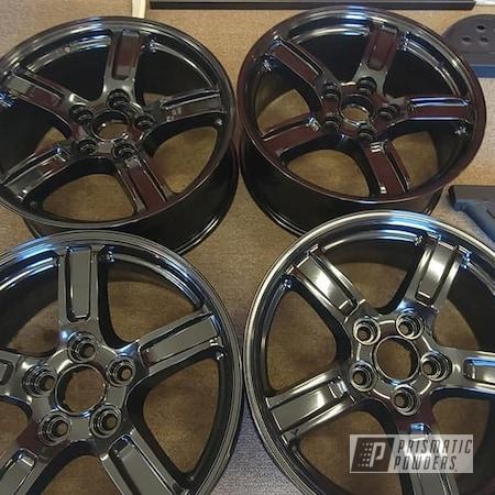 "Powder Coating: Alloy Wheels,Aluminum Wheel,Rims,Auto Rims,Aluminum Rims,GLOSS BLACK USS-2603,18"" Aluminum Rims,Automotive Rims,Automotive Wheels"
