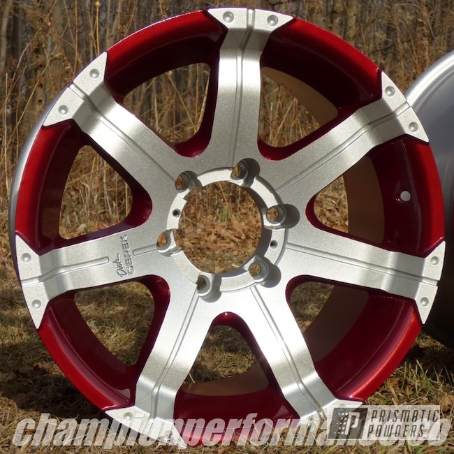 Shaded Cherry On Custom Wheels For Gm Crimson Red Color Match
