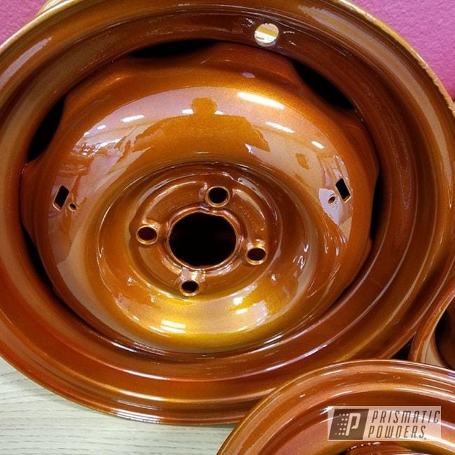 Clear Vision Over Illusion Cinnamon Powder Coating On Custom Wheels