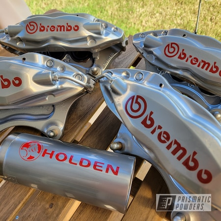 Powder Coating: Calipers,Brakes,POLISHED ALUMINUM HSS-2345,Chevrolet,Brake Calipers,SS,Brembo Brake Calipers,Camaro