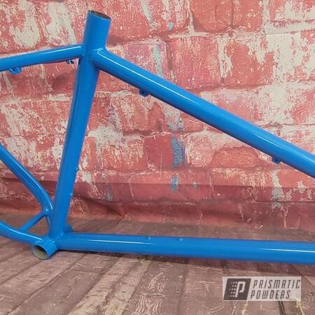 Powder Coating: Bike Frame,Bike,Bicycle,RAL 5015 Sky Blue,Bicycle Frame