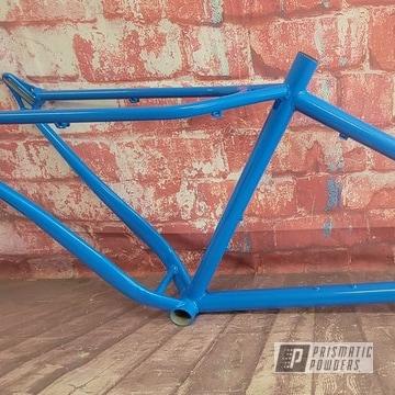 Powder Coated Bike Frame In Ral 5015
