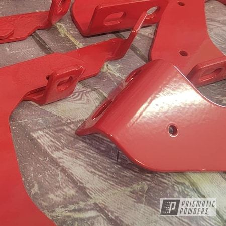 Powder Coating: Passion Red PSS-4783,Auto Parts,Automotive,Side Step Brackets,Running Board Brackets,Automotive Parts,brackets