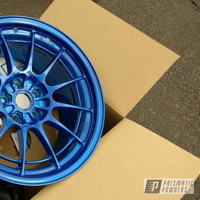 Powder Coating: Wheels,Automotive,Custom Rims,Heavy Silver PMS-0517,Rims,Peeka Blue PPS-4351,Automotive Rims