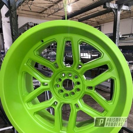 "Powder Coating: Wheels,4x4,Zombie Green PSB-7001,Rims,24"",Jeep Gladiator,The Western Wheel"
