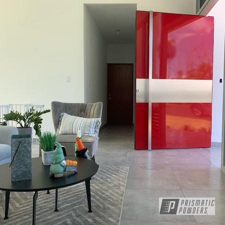 Powder Coating: Pivot Doors,Household Decor,Doors,House Decor,Metalurgia,Home Decor,Aluminum,Flag Red PSS-0105,door,Furniture,Household