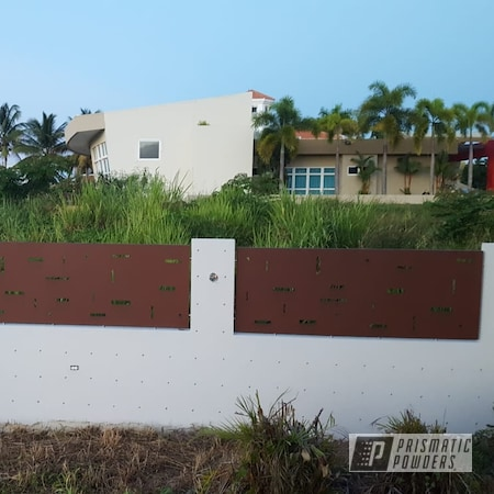 Powder Coating: fence,RUSTIC TEXTURE UTB-5223,House Decor,Home and Garden,Home Decor,Outdoor Decor,Aluminum,Household