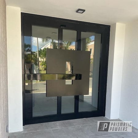 Powder Coating: Pivot Doors,Doors,Ink Black PSS-0106,Metalurgia,Industrial,Home Decor,Aluminum,door,Household