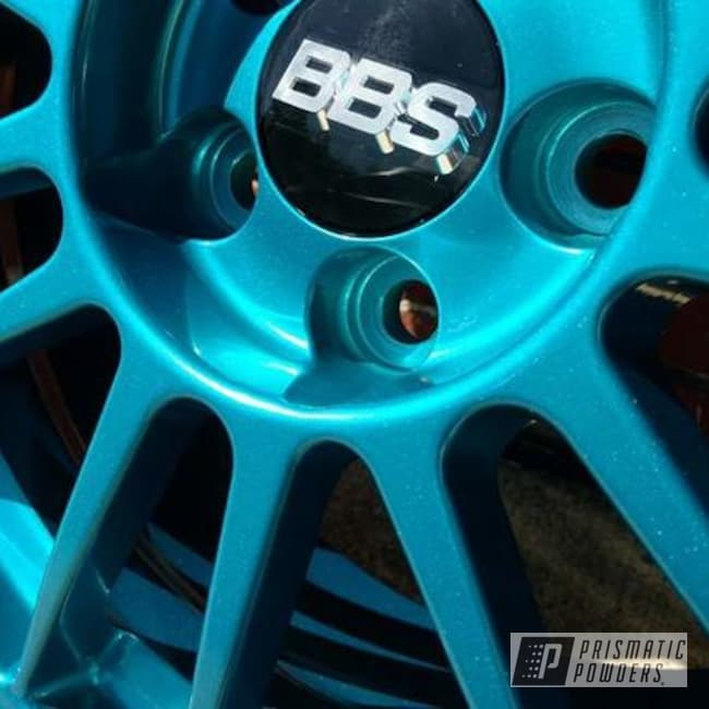Custom Bbs Wheels Featuring Hawaiian Teal And Super Chrome