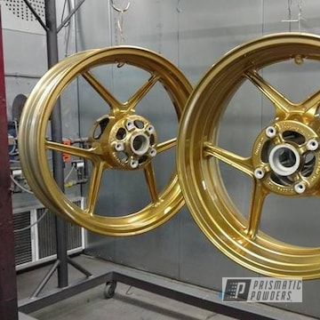 Motorcycle Rims Coated In Transparent Brass And Super Chrome