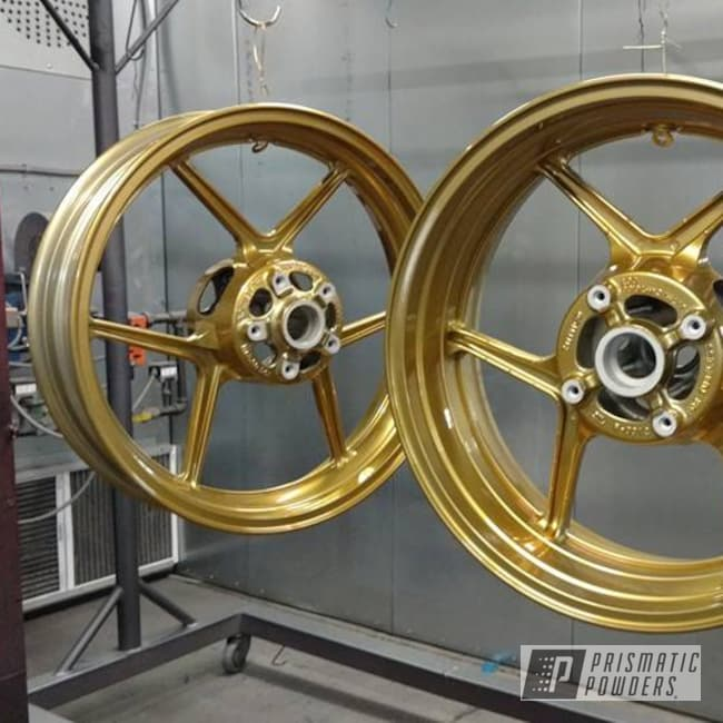 Powder Coating: Wheels,Transparent Brass PPS-5159,SUPER CHROME USS-4482,Two Stage Application