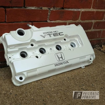 Honda Engine Valve Cover Coated In Pearl Sparkle And Chameleon Sapphire