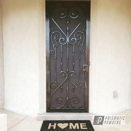 Powder Coating: Security Door,Bad Chocolate PSB-6737,Lazer Bronze PMB-4152,door,Household