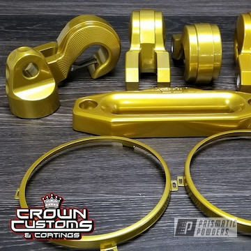 Misc. Parts Coated In Illusion Gold With Clear Vision Top Coat