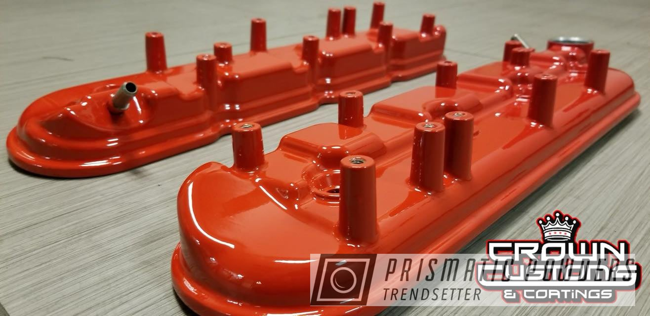 Powder Coating: Engine Parts,Very Red PSS-4971,Valve Cover