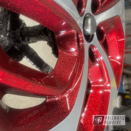 Powder Coating: Wheels,Custom Rims,Custom Wheels,Ink Black PSS-0106,Three Powder Application,Two Tone Wheels,Two Toned,Alloy Wheels,Clear Vision PPS-2974,Rims,Two Tone,Super Red Sparkle PPB-4694,Two Tone Three Stage