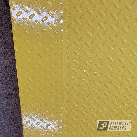 Powder Coating: Floor Drain Cover,Diamond Plate,RAL 1018 ZincYellow,Drain Cover,Garage Drain