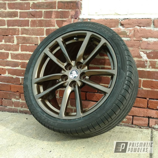 Powder Coating: Wheels,Automotive,Clear Vision PPS-2974,Bronze Chrome PMB-4124