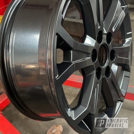 "Powder Coating: Wheels,Rims,Black Silver PMB-4249,18"" Aluminum Rims"
