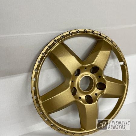 "Powder Coating: Wheels,Custom,3 Piece,3 Piece Rims,2 Tone,Rims,17"" Aluminum Rims,Spanish Gold EMS-0940"