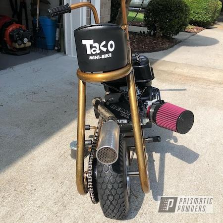Powder Coating: Mini Bike Frame,Goldtastic PMB-6625,1 Color