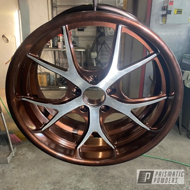 Powder Coated Two Tone Wheels In Hss-2345 And Pmb-4151