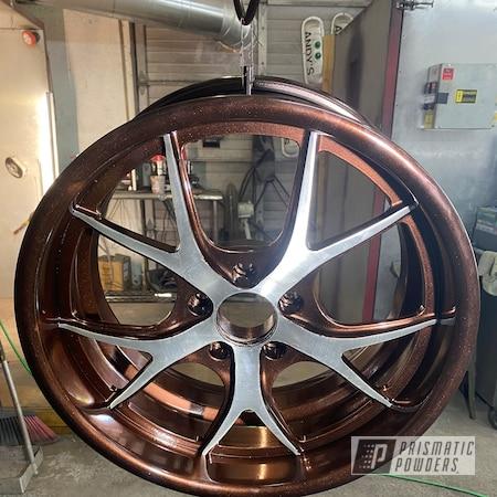 "Powder Coating: Wheels,POLISHED ALUMINUM HSS-2345,2 Tone,Rims,Lazer Copper PMB-4151,18"" Aluminum Rims,Cadillac"