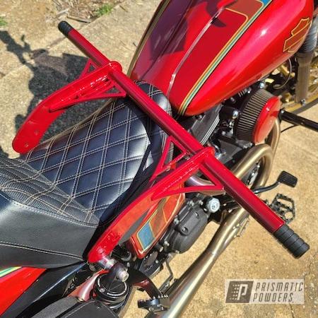 Powder Coating: Harley Davidson,2 Tone,LOLLYPOP RED UPS-1506,Toreador Red PMB-2753,Interstate Bars,Crash Bars