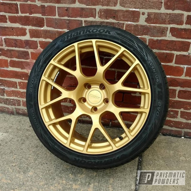 Powder Coating: Wheels,Goldtastic PMB-6625,Automotive,Adams Gold PPB-6003