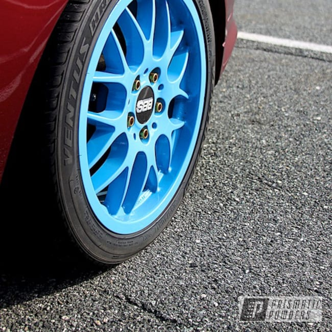 Ral 5015 Powder Coat On A Custom Wheel