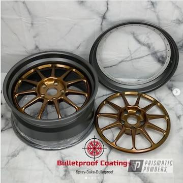 Powder Coated Custom 3 Piece Hre Wheels
