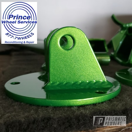 Powder Coating: Automotive,Suspension Parts,Clear Vision PPS-2974,Illusion Green Ice PMB-7025,Automotive Parts,Suspension