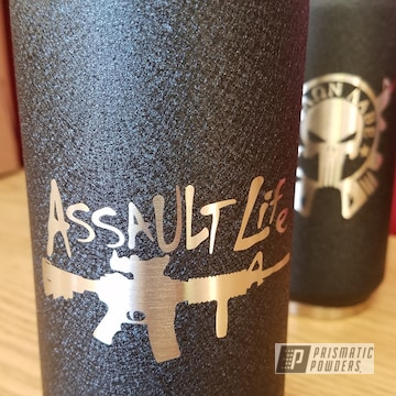 Personalized Cup Using Splatter Black Powder Coat