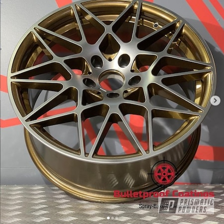 "Powder Coating: Wheels,19"" Wheels,M4 GTS,Evo Grey PMB-5969,Custom Wheels,Custom Two Tone,BMW Wheels,2 Tone,BMW M4 GTS,Bronze Chrome PMB-4124,BMW,Two Tone Wheels,Aluminum,Two Toned,BMW M4,Aluminum Wheels,2 Color Application,Rims,Two Tone"