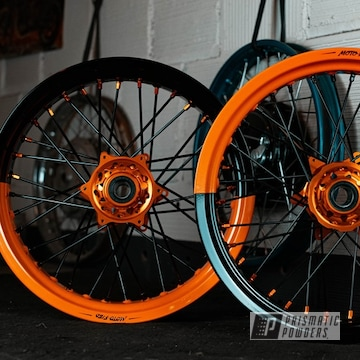 Powder Coated Motorcycle Wheels In Pps-2974, Uss-1522 And Pmb-4132