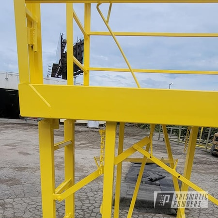 Powder Coating: Work Platform,RAL 1018 ZincYellow,Work Station,Man Lift Platform,Safety Equipment