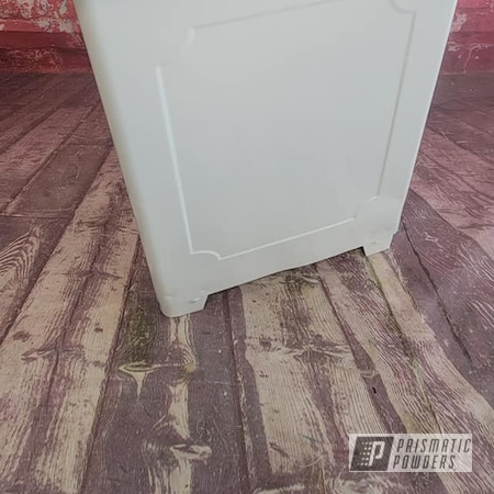 Powder Coating: Vintage Cans,Vintage,Gloss White PSS-5690,Trash Can,Garbage Can