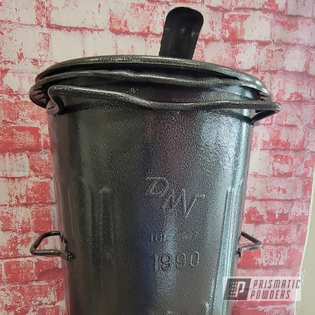 Powder Coating: Clear Vision PPS-2974,Vintage Can,Vintage,Trash Can,Silver Artery PVS-3014,Garbage Can
