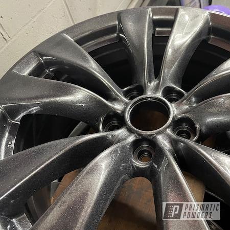 "Powder Coating: Speedway Black PMB-1842,Wheels,Clear Vision PPS-2974,Custom Wheels,Rims,Speedway Grey PMB-4911,18"" Rims"