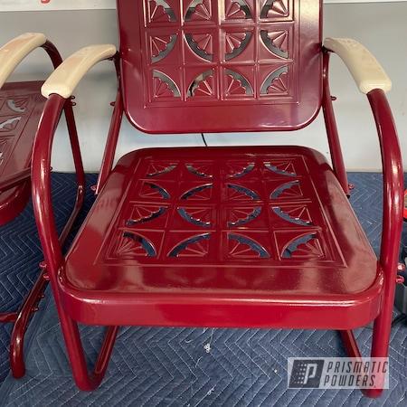 Powder Coating: Bennington,RAL 3005 Wine Red,Outdoor Furniture,Restoration,Vintage Glider,Furniture