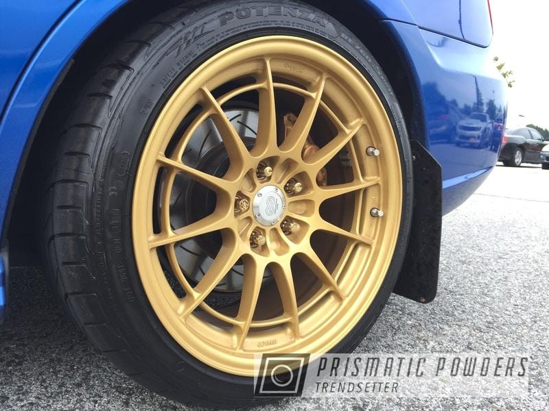 Powder Coating: Wheels,Goldtastic PMB-6625,Enkei Wheels,Clear Vision PPS-2974