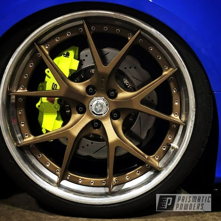 Powder Coating: Automotive,Calipers,Clear Vision PPS-2974,Chartreuse Sherbert PSS-7068,Brake Calipers,Brembo Brake Calipers