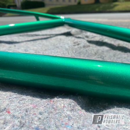 Powder Coating: Bicycles,Dew Can Sparkle PPB-4544,Bike Frame,Bicycle Frame